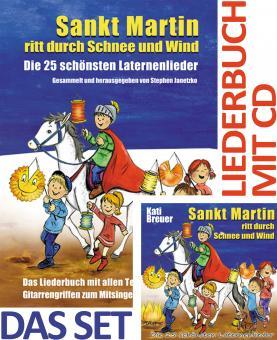 SET LIEDERBUCH inkl. CD Sankt Martin ritt durch Schnee und Wind - Die 25 schönsten Laternenlieder