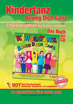 """ebook PDF LIEDERBUCH zur CD """"KINDERTANZ - beweg dich ganz!"""" 24 Kindertänze - Das Buch zur CD mit Choreographien (Farbe)!"""