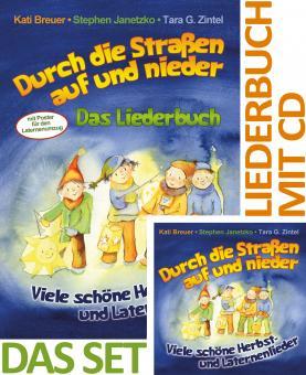 SET LIEDERBUCH inkl. CD Durch die Straßen auf und nieder - Viele schöne Herbst- und Laternenlieder
