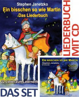 SET LIEDERBUCH inkl. CD Ein bisschen so wie Martin - 22 Lieder zum Laternenfest und zu Sankt Martin