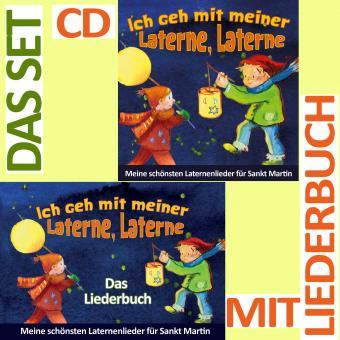 SET LIEDERBUCH inkl. CD Ich geh mit meiner Laterne, Laterne - Meine schönsten Laternenlieder für Sankt Martin