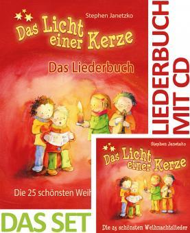 SET LIEDERBUCH inkl. CD Das Licht einer Kerze - Die 25 schönsten Weihnachtslieder