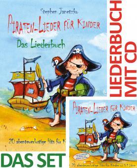 SET LIEDERBUCH inkl. CD Piraten-Lieder für Kinder - 20 abenteuerlustige Lieder