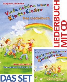 SET LIEDERBUCH inkl. CD Viele schöne neue Kinderlieder - Ich schenk dir einen Regenbogen, Augen Ohren Nase u.a.m.