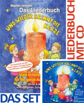 SET LIEDERBUCH inkl. CD Und wieder brennt die Kerze - Viele schöne Lieder für die ganze Adventszeit