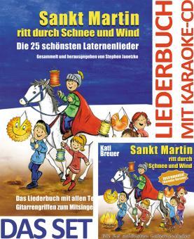 SET LIEDERBUCH inkl. CD Sankt Martin ritt durch Schnee und Wind KARAOKE - Die 25 schönsten Laternenlieder - Instrumental (Karaoke-Version)