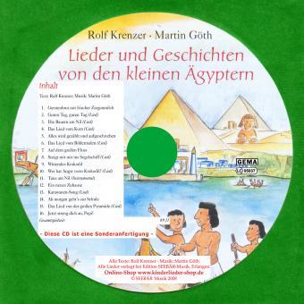 CD Lieder und Geschichten von den kleinen Ägyptern - SONDERANFERTIGUNG